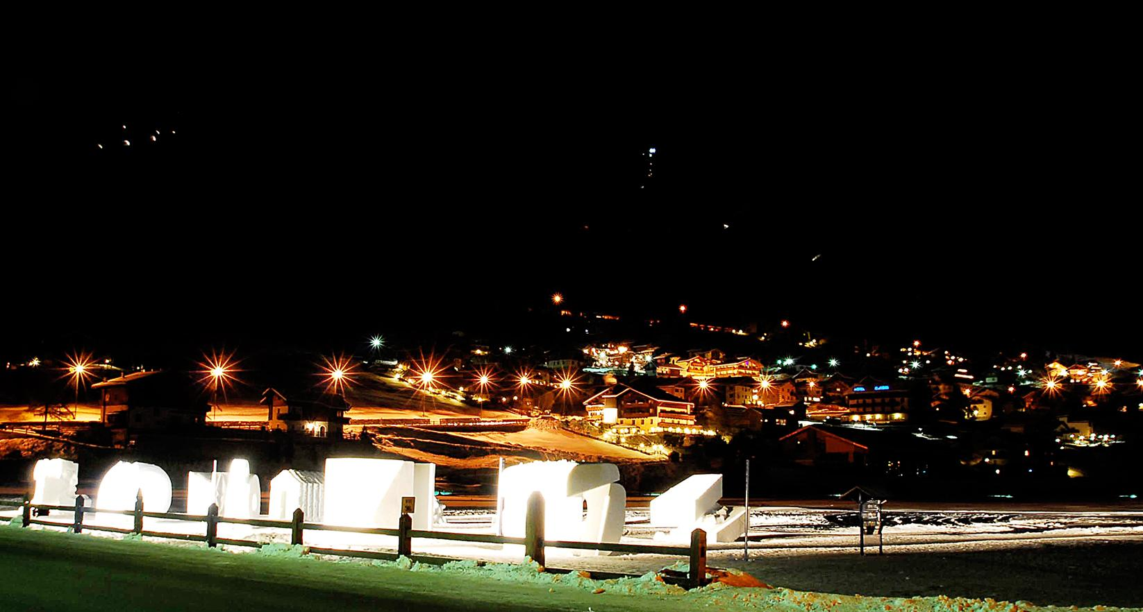livigno b and b livigno by night greenrose vicino alle piste2